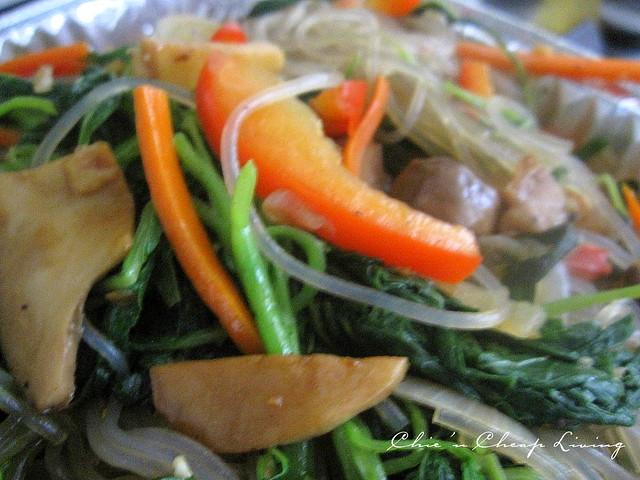 Vegan/vegetarian jap chae (Korean sweet potato noodles)