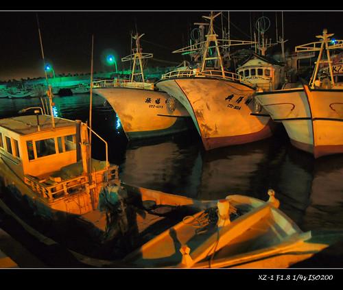 白沙灣漁港夜景