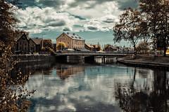 Nyköping (xibalbax) Tags: sky clouds canon river sweden 7d nyköping 1755mm canoneos7d