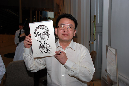 Caricature live sketching for Tetra 60th Anniversary - 5