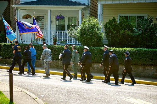 Memorial Day Parade 2011:  Flag bearers.