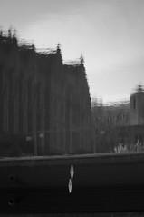 Depth (daniellih) Tags: bw white black reflection building uw nature water fountain contrast campus washington spring nikon university upsidedown cone ripple may wave surface clear flip drumheller reverse universityofwashington  trafficcone  2011 d90 drumhellerfountain   daniellih