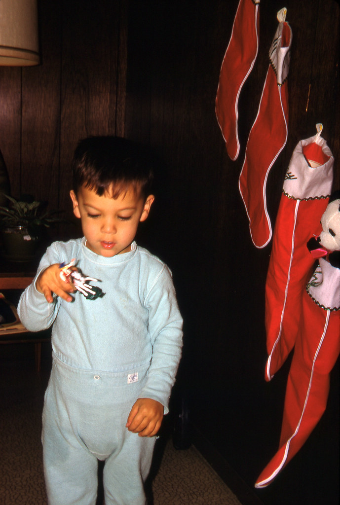 Tommy with a cowboy figurine