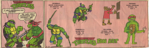 Teenage Mutant Ninja Turtles { newspaper strip } NO ONIONS! ..art by BERGER :: 08231992
