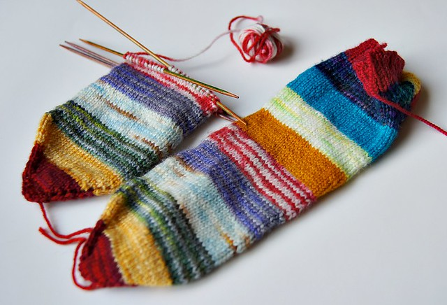 Striped Socks WIP (1)