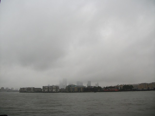 Rainy day seen from Wapping
