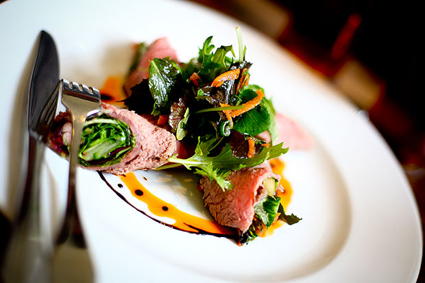 Vietnamese Rare Roast Beef Rolls