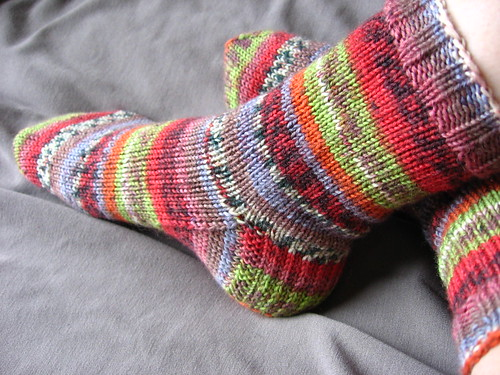 finished stripe socks 1