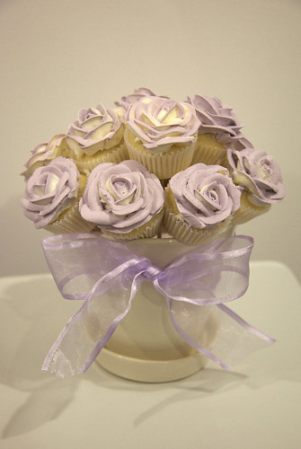 rose bouquet cupcakes