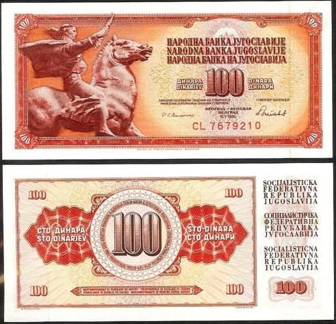 100 Dinárov Juhoslávia 1986, Pick 90c