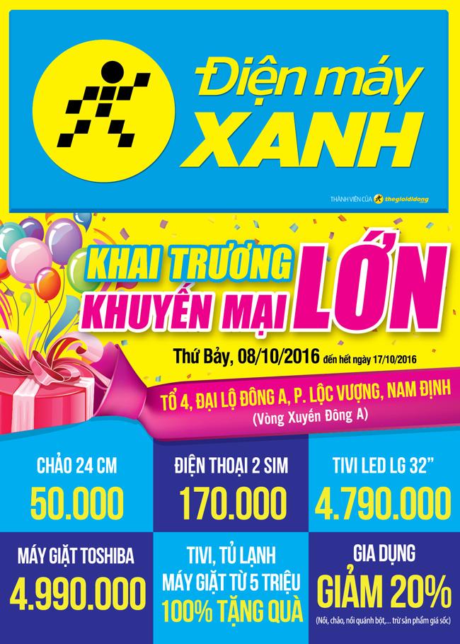 Khai trương siêu thị Điện máy XANH Lộc Vượng, Nam Định