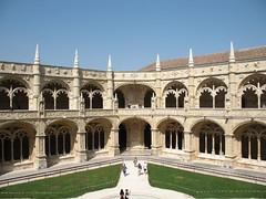 Claustro do Mosteiro dos Jernimos (kpmst7) Tags: 2016 eurasia europe portugal lisbon lisboa iberia westerneurope southerneurope monastery catholic courtyard belm unesco nationalcapital cloister