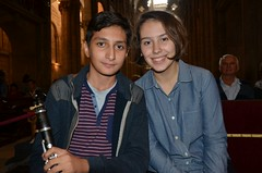 Eric Mirzoyan y Polina Senatulova en la Catedral esperando para ensayar