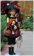 Halloween Witch (Tiny Paws) Tags: halloween handmade witch wiggskaye doll dress dollstown