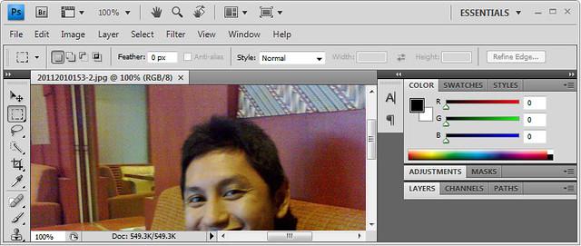 Proses Pengeditan Foto B