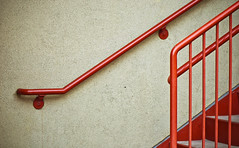 Red Astaire (jaxxon) Tags: red urban macro metal wall stairs lens prime nikon stair pad rail stairwell micro fixed handrail 365 mm nikkor myfave vr stucco afs twocolored urbanfragments twocolor 2011 d90 nikor project365 f28g gvr jaxxon jackcarson multifarious apicaday urbanminimalism ayearinpictures nikond90 hpad nikkor105mmf28gvrmicro project365083 365083 083365 desklickr jacksoncarson jacksondcarson ayearinphotographs hpadw project3652011 2011yip 3652011 yip2011 2011ayearinpictures project365832011 2011365083