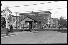 Railroad crossing in downtown Herkimer (New York State Archives) Tags: railroad newyork train crossing herkimer