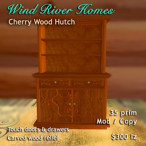 Cherry Wood Hutch by Teal Freenote