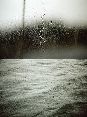 Rain (Out On The Sea 10) (pni) Tags: sea window nature wet water rain suomi finland diptych quiet wave surface drop through oldies onfilm skrubu pni early2000s fromtheshoebox manandenvironment pekkanikrus
