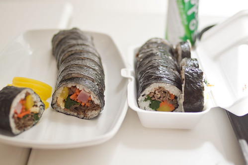 kimbap cross section - side to side