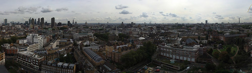 Autumn 2010, Panorama of London from Michael Cliffe House