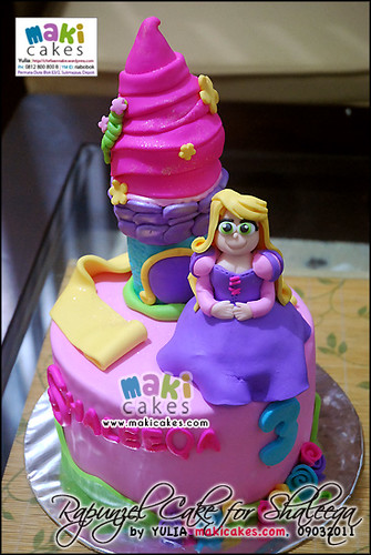 Rapunzel Cake for Shaleeqa_remake - Maki Cakes