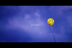Goodbye Mr. Trouble. (L.Huynh) Tags: sky liz yellow canon balloon goodbye breathe emotions picnik edit rant lettinggo beingfree
