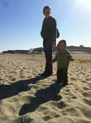 First trip to the beach.
