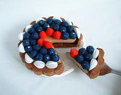felt blueberry tart (fairyfox) Tags: diy strawberry cream blueberry bake fruittart tutorials feltcake feltfoodpattern felttart fairyfox cuteplayfood