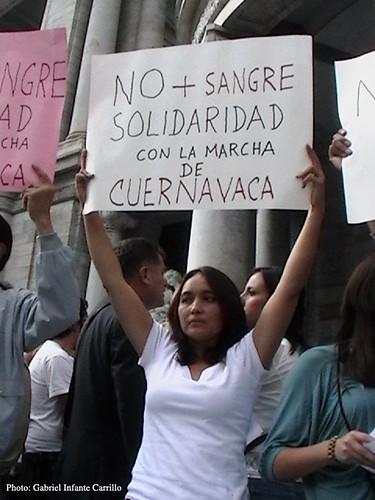 Solidiaridad con marcha Cuernavaca