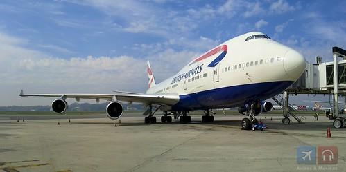 Jumbo 747 da British #foto