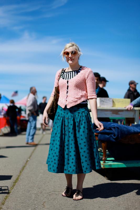pinksweater - street fashion style alameda flea market