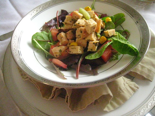 chicken salad with cilantro dressing