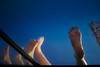 chill (spo0nman) Tags: travel blue sea thailand boat asia southeastasia legs kohsamui relaxed chilled boatride kohpangan inthesea