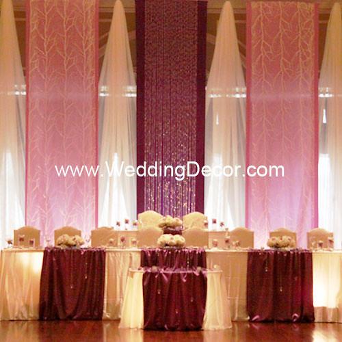 White Wedding Backdrop. Wedding Backdrop - Royal