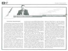 Pluma Electricista, Martín Esparza 13-04-2011