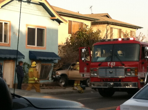 SUV Hits House on Pacific