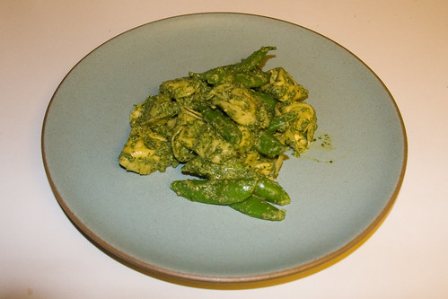 Mint & Pea Shoot Pesto with Tortellini and Sugar Snap Peas