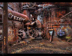 Eddy was Here (Theaterwiz) Tags: abandoned rust pittsburgh pennsylvania decay nik furnace hdr rustyandcrusty urbex promote abandonedfactory carriefurnace photomatix 9exposures canon1022efs wrecksandruins canon7d hdrspotting promotecontrol theaterwiz theaterwizphotography