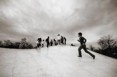 Used To Get High (-nasruddinmukhtar-) Tags: park monochrome japan digital japanese kid jump nikon sigma koen hillside 1020mm nagaoka nigata echigo d90 nasruddin nasruddinmukhtar