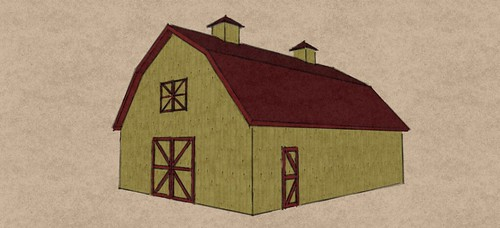 30x40 Gambrel barn