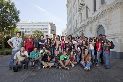 Taller de Strobist realizado en las calles de Lima, Perú 17/Abril