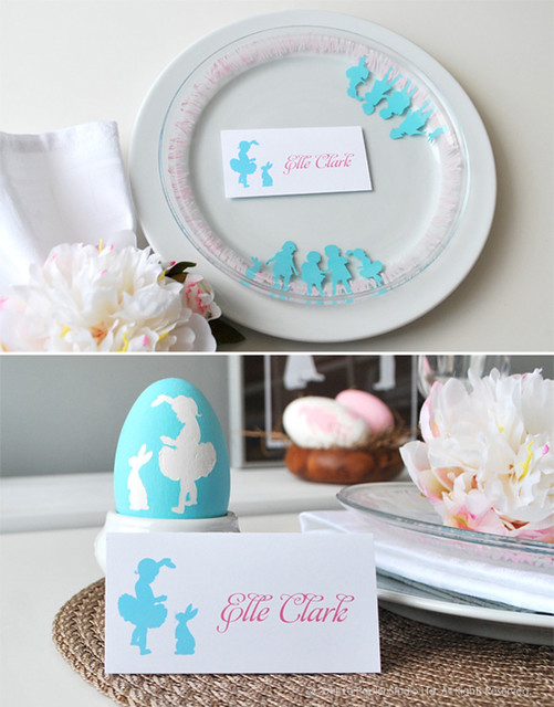 Easter Silhouette Plate - Printable and Tutorial