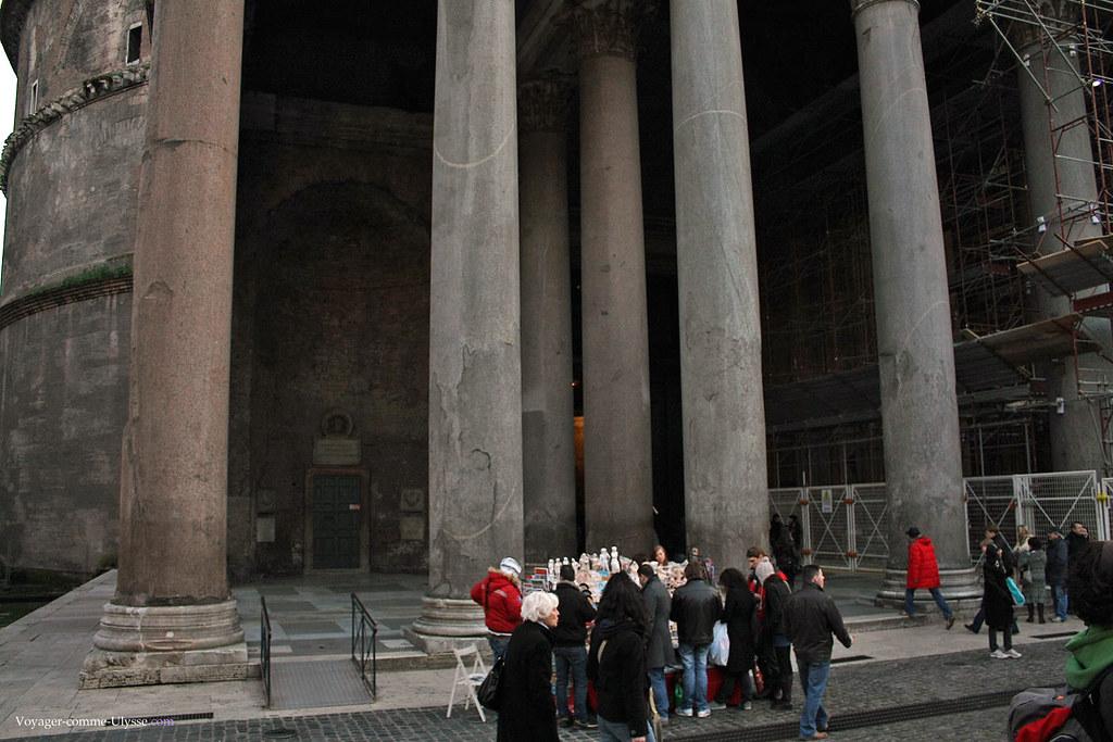 Colonnes de la façade