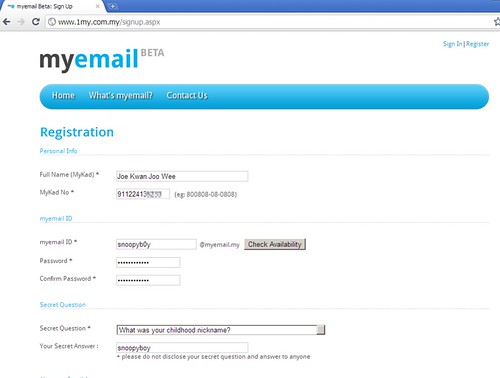 1Malaysia email registration