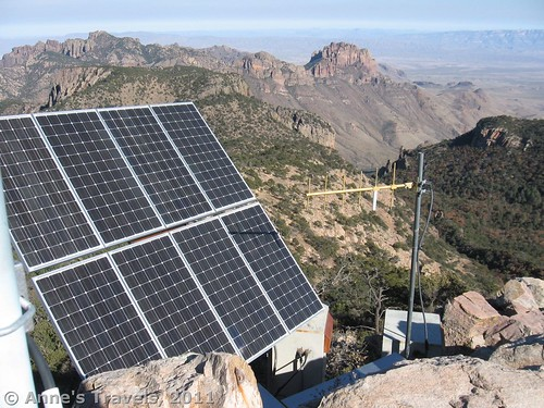 Solar Panel on Emory Peak, Big Bend National Park, Texas