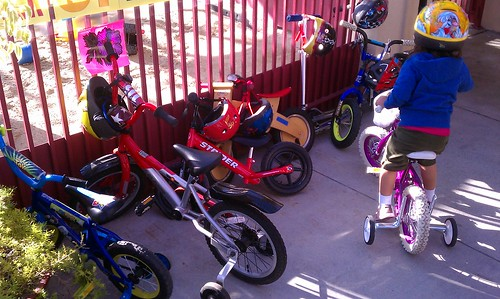 Bike Day at USC preschool - parking issues!