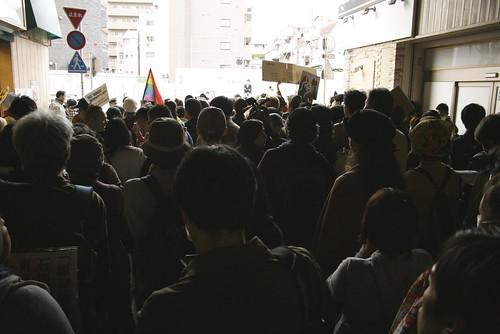 2011/4/10 都知事選投票日・高円寺でデモ