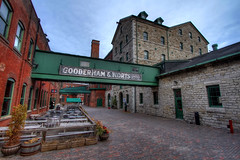 Distillery District (Wherever I Roam) Tags: toronto downtown cityscape district to distillery hdr gooderham worts