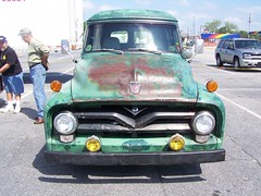 1955 FORD F100 (classicfordz) Tags: green ford 1955 panel f100 front
